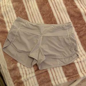 Grey Lululemon Speed Up Shorts 2.5